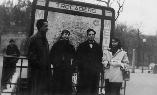 Con Octavio Paz y Fernando de Szyszlo. (Foto: Archivo Blanca Varela)