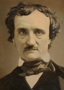 El poeta retratado en uno de los pocos daguerrotipos suyos que se conservan, poco antes de su muerte,